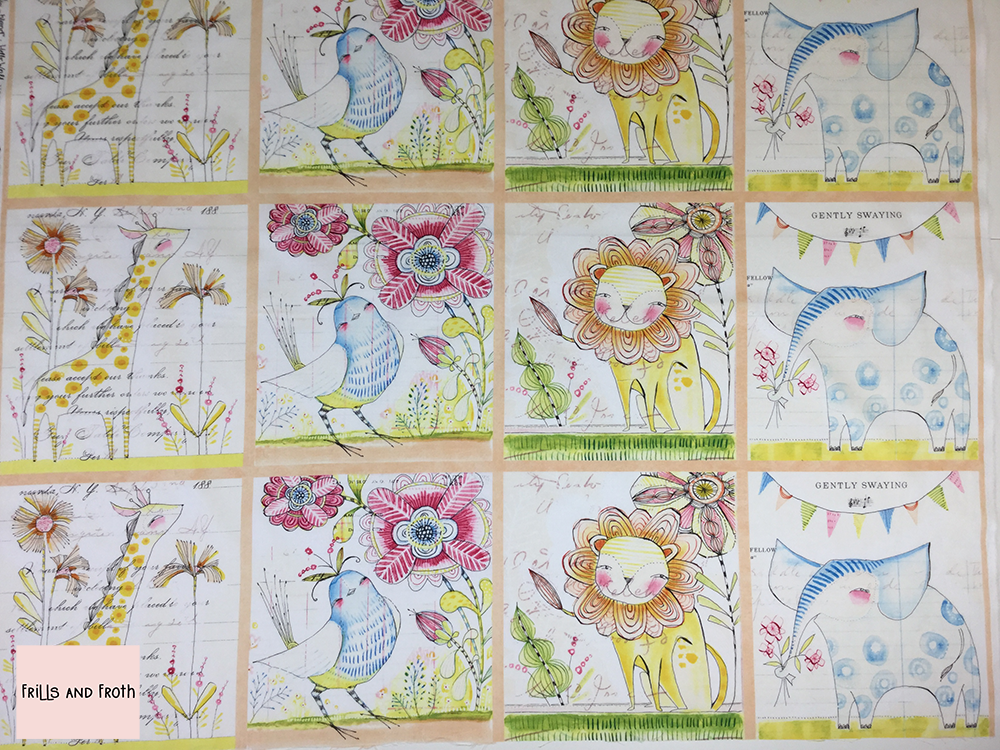 Blend 'Welcoming Committee' quilting fabric panel