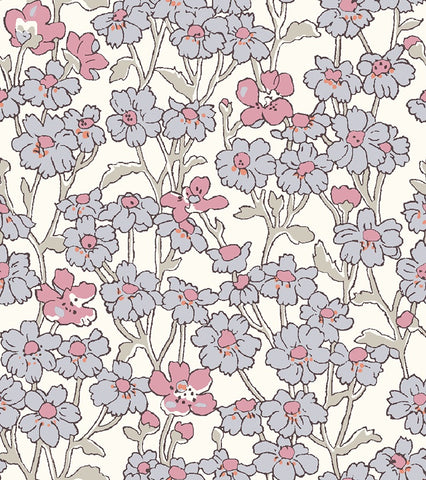 Chiltern hill in pink is a floral cotton fabric part of the new fabric collection Hesketh house by Liberty of London fabrics. A 100% cotton fabric that is suitable for all sewing and fabric crafts from dress making to quilting. This fabric is sold by the metre and fat quarter by UK fabric seller and Liberty fabric stockist frills and froth