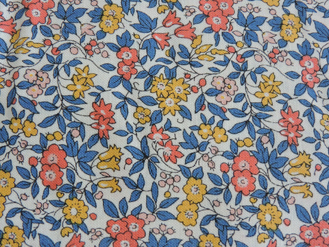 cottage garden collection from liberty of london iconic and classic retro fabric 100% cotton fabric available in a wide range of colours from blue delicate fabric to bright and bold pink fabric 100% quilting weight cotton fabric