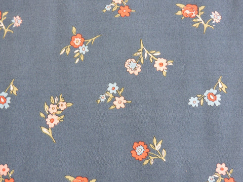 Liberty fabric little vine in blue from the cottage garden collection, sold by frills and froth