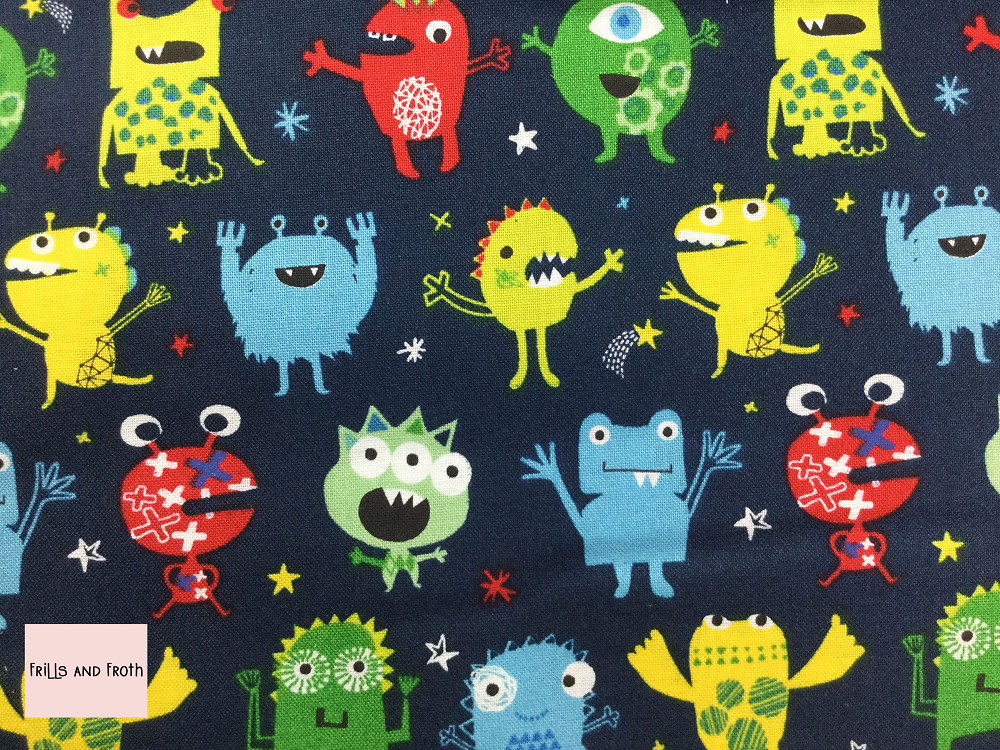 Dashwood Studio 'Monsters' quilting fabric