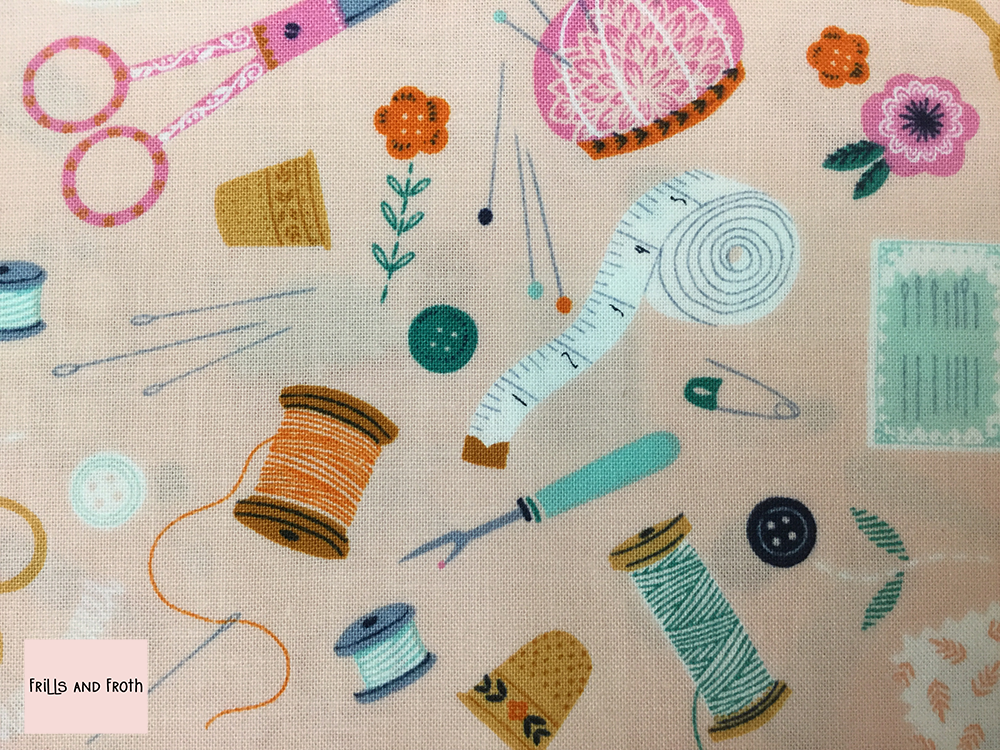 Dashwood Studio 'Sewing Notions' quilting fabric