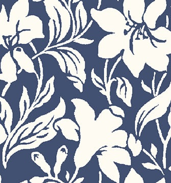 Day Lily fabric in blue is a fabric from the new fabric collection Hesketh house from Liberty of London fabric. This Liberty fabric is a 100% cotton quilting weight fabric that is suitable for all sewing crafts from dressmaking to quilting. This cotton fabric is sold by the metre and fat quarter by UK fabric seller and Liberty fabric stockist frills and froth