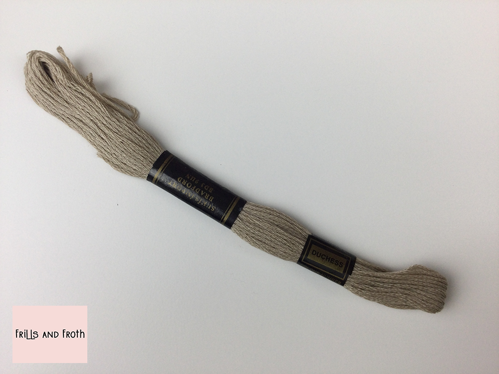 Duchess Embroidery Thread Colour 915 915 Sandy Beach 6 strand 100% cotton Embroidery Thread 8mtr skein. A light taupe embroidery thread. Ideal to add a bit of extra detail to any sewing project of course for embroidery and cross stitch. Looking for more embroidery thread find it here.