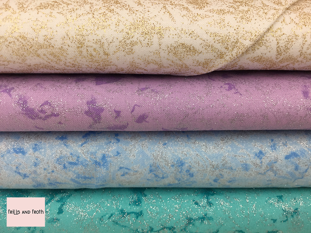 Fairy Frost Quilting Fabric Collection 100% cotton quilting weight fabric. Sold by the metre and half metre. From UK online fabric store Frills and Froth.