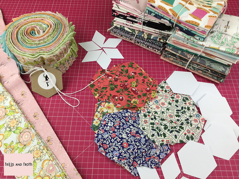 Fat Quarter Bundles and Pre-cut Quilting Fabric 100% cotton quilting weight fabric. Sold by the metre and half metre. From UK online fabric store Frills and Froth.