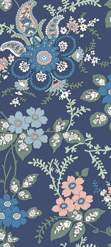 Fireside fabric in blue is a fabric from the new fabric collection Hesketh house from Liberty of London fabric. This Liberty fabric is a 100% cotton quilting weight fabric that is suitable for all sewing crafts from dressmaking to quilting. This cotton fabric is sold by the metre and fat quarter by UK fabric seller and Liberty fabric stockist frills and froth
