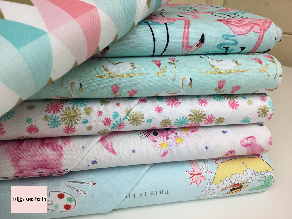 Michael Miller 100% cotton quilting weight fabric. Sold by the metre and half metre. From UK online fabric store Frills and Froth.