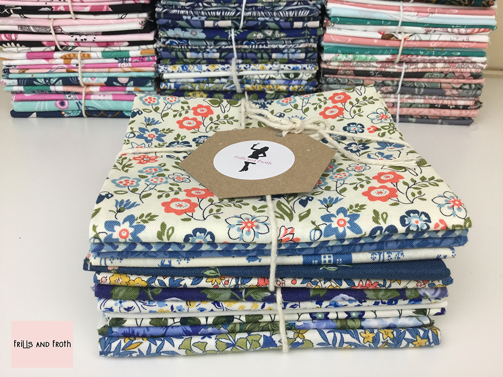 fat quarter and pre-cut quilting cotton fabric by big names such as Liberty, Michael Miller, Riley Blake. Sold by UK online store Frills and Froth
