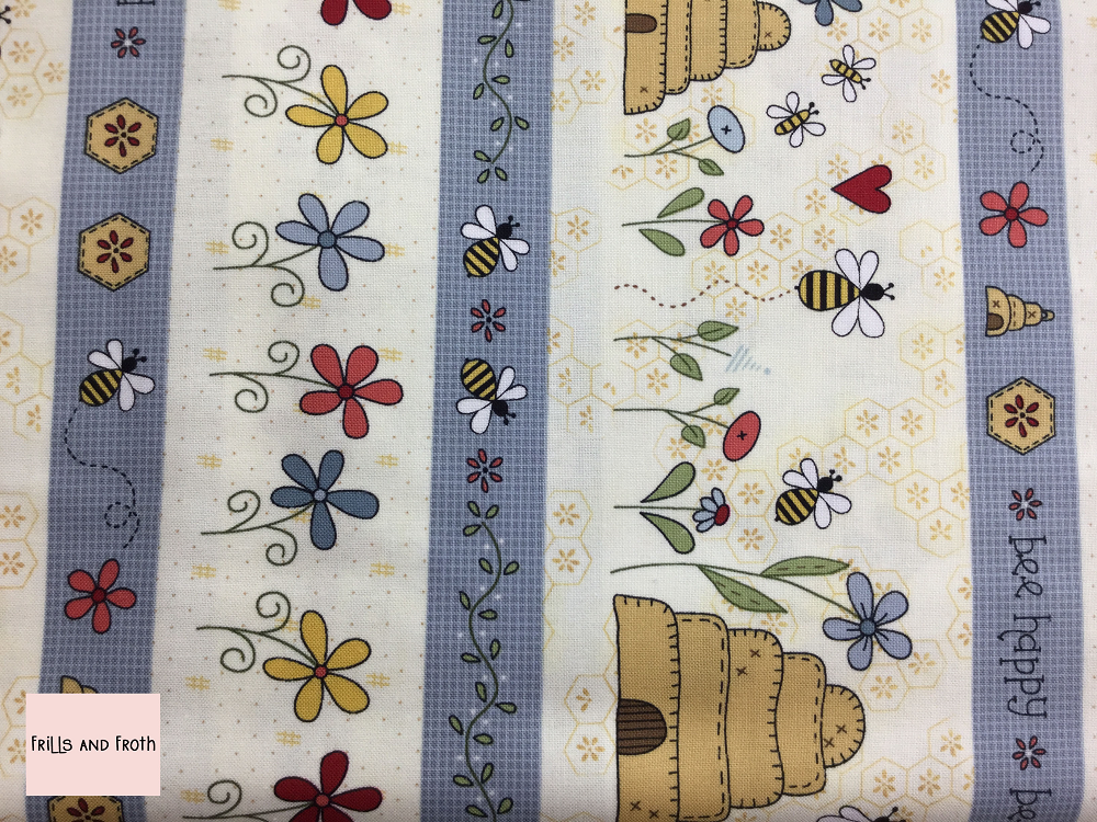 Henry Glass 'All About The Bees' 'Bee Border Stripe' quilting fabric