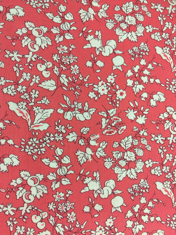 Liberty fabric, cotton fabric in quilting weight, fruit silhouette fabric from the orchard garden collection from Liberty fabric, sold by the metre and fat quarter by frills and froth