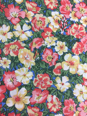 frills and froth liberty of london fabric 100% cotton fabric collection of floral fabric retro fabric classic fabric for quilting dressmaking homewares in pink fabric blue fabric red fabric yellow fabric cream fabric