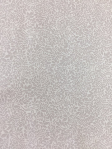 Liberty 'Oxford Fern' fabric. A 100% cotton fabric in quilting weight. This Liberty 'Oxford Fern'  fabric from The Summer House collection features a beautiful tone on tone fern pattern in cream. Not just for quilting, this fabric is also suitable for dressmaking and home decor.sold by UK Liberty of London fabric stockist Frills and Froth. seller of designer fabric from Liberty, Michael Miller and Riley Blake