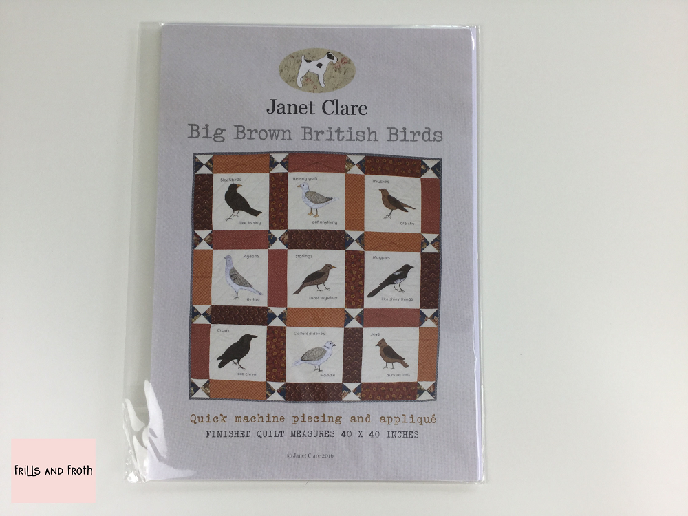 Janet Clare 'Big Brown British Birds' Quilt Pattern