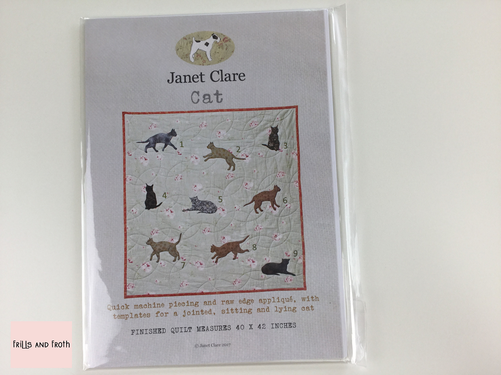 Janet Clare's 'Cat' Paper Quilting Pattern