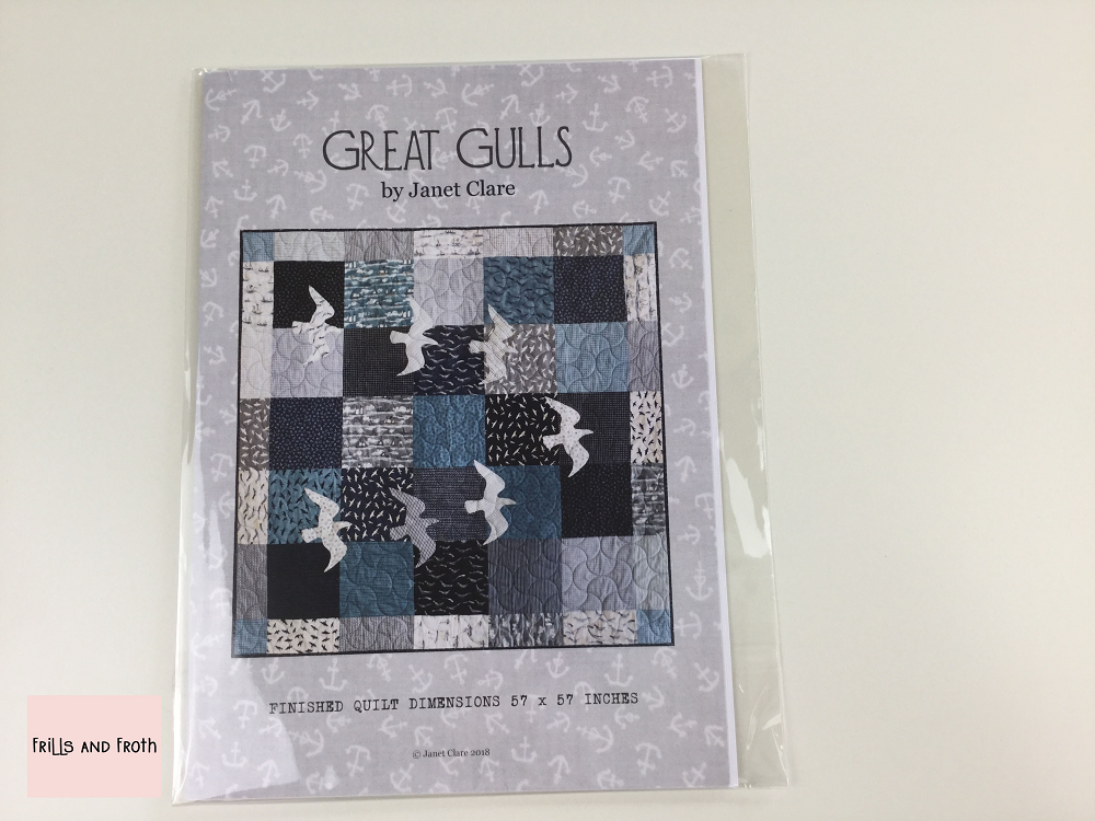 Janet Clare's 'Great Gulls' Paper Quilting Pattern