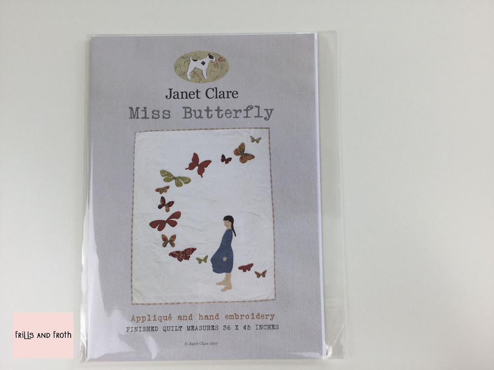 Janet Clare's 'Miss Butterfly' Paper Quilting Pattern