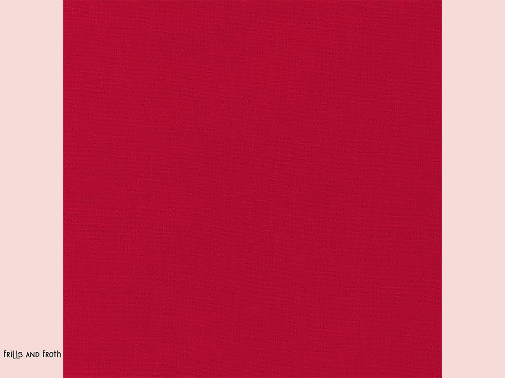 Robert Kaufman 'Kona' fabric in 'Cardinal' quilting fabric