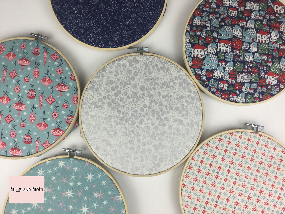 Liberty Fabric 'A Festive Collection' Quilting Fabric Fat Quarter Bundle in Blue This bundle of Liberty quilting fabric contains six fat quarters.