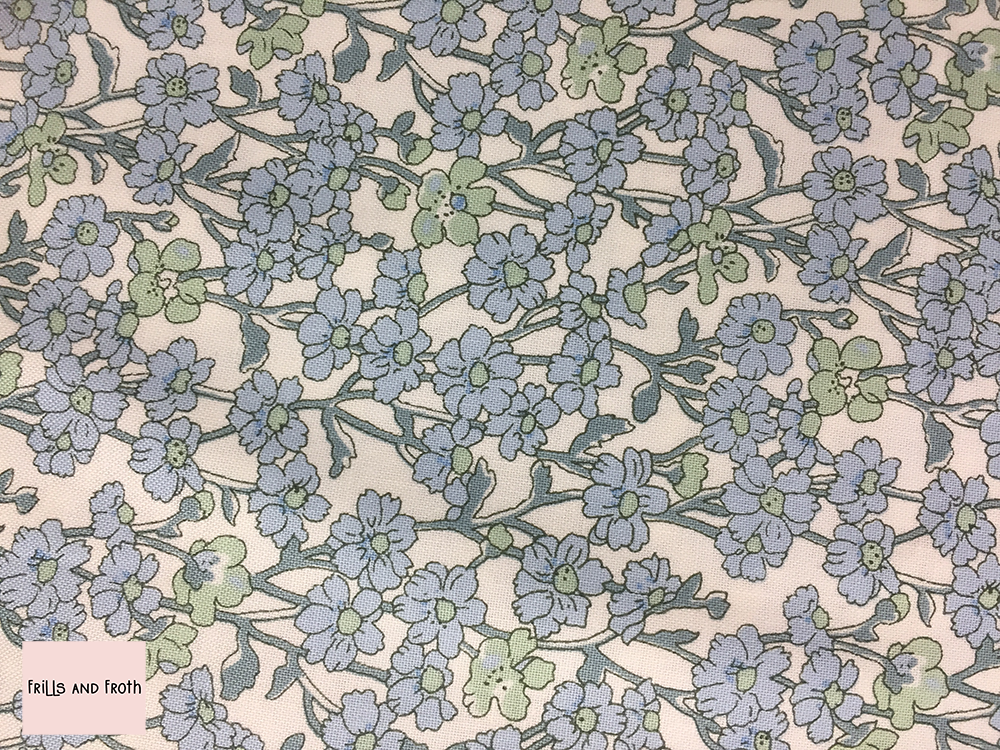 Liberty fabric 'Chiltern Hill' in blue quilting fabric