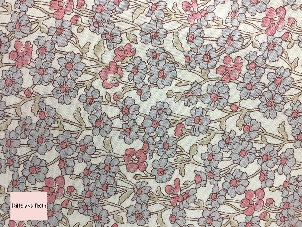 Liberty fabric 'Chiltern Hill' in pink quilting fabric