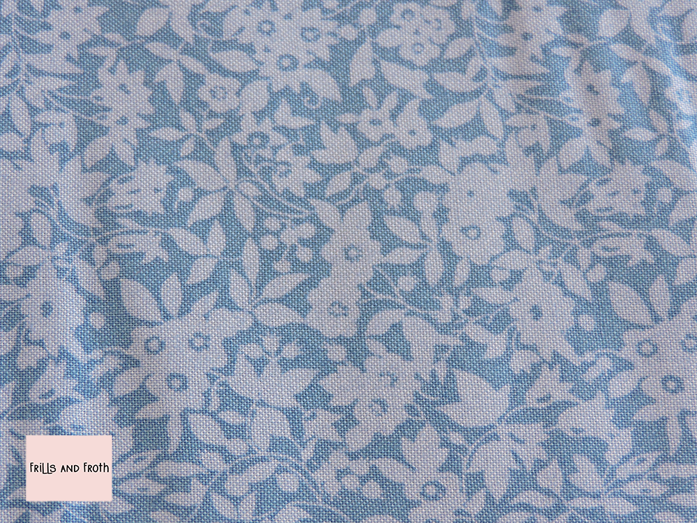Liberty Fabric Daisy Shadow in blue quilting cotton