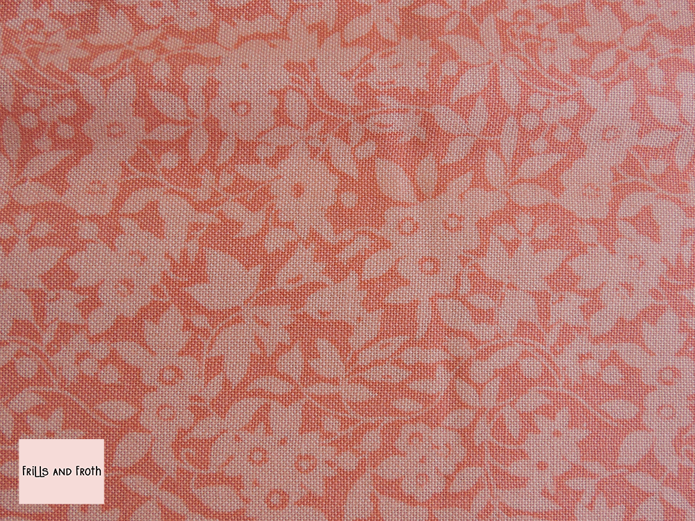 Liberty Fabric Daisy Shadow in coral quilting cotton
