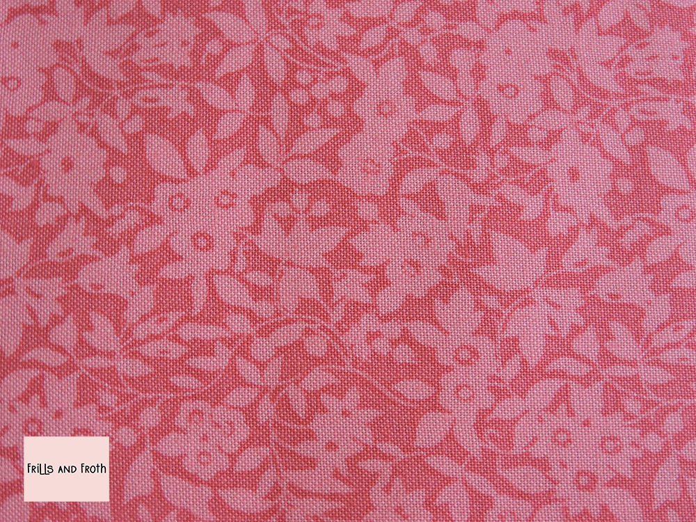 Liberty Fabric Daisy Shadow in pink quilting cotton