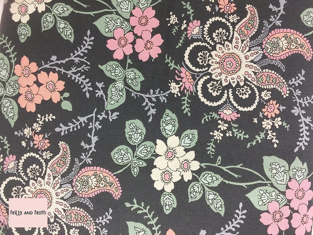 Liberty fabric 'Fireside' in pink quilting fabric