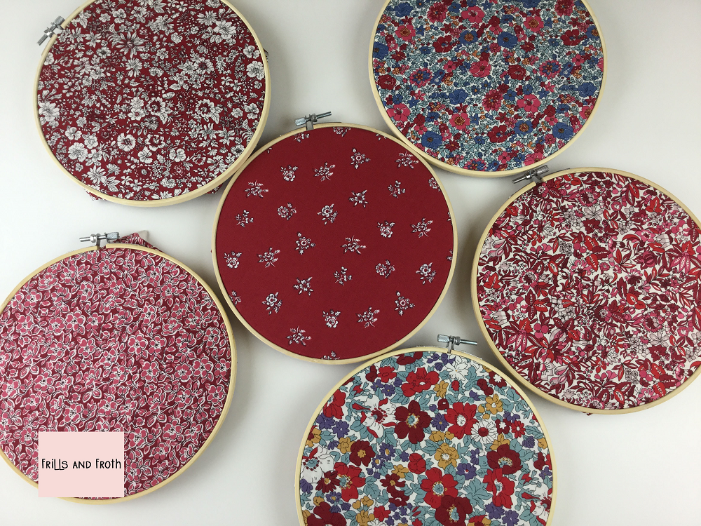 Liberty Fabric 'Flower Show Winter' Quilting Fabric Fat Quarter Bundle in red This bundle from the 'Flower Show Winter' collection by Liberty contains six fat quarters all in a red colourway.