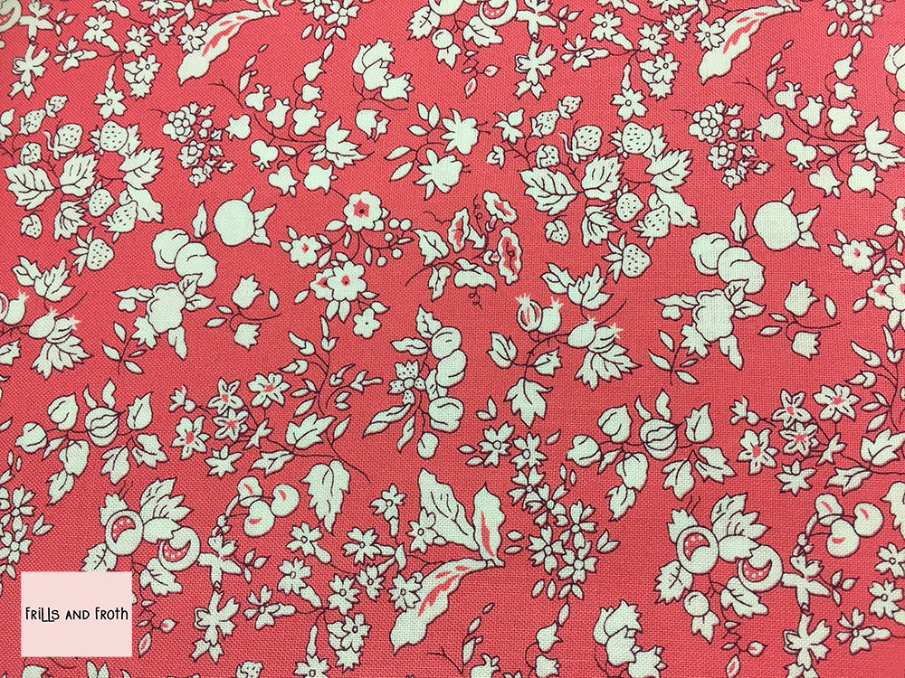Liberty Fabric 'Fruit Silhouette' in pink quilting fabric
