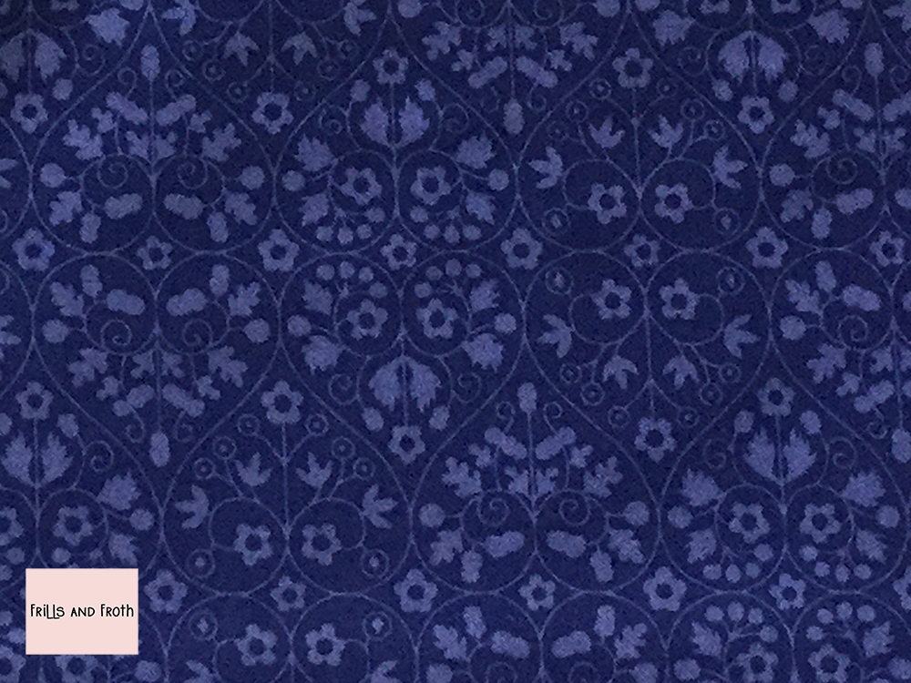 Liberty fabric 'Gated Shadow' in blue quilting fabric