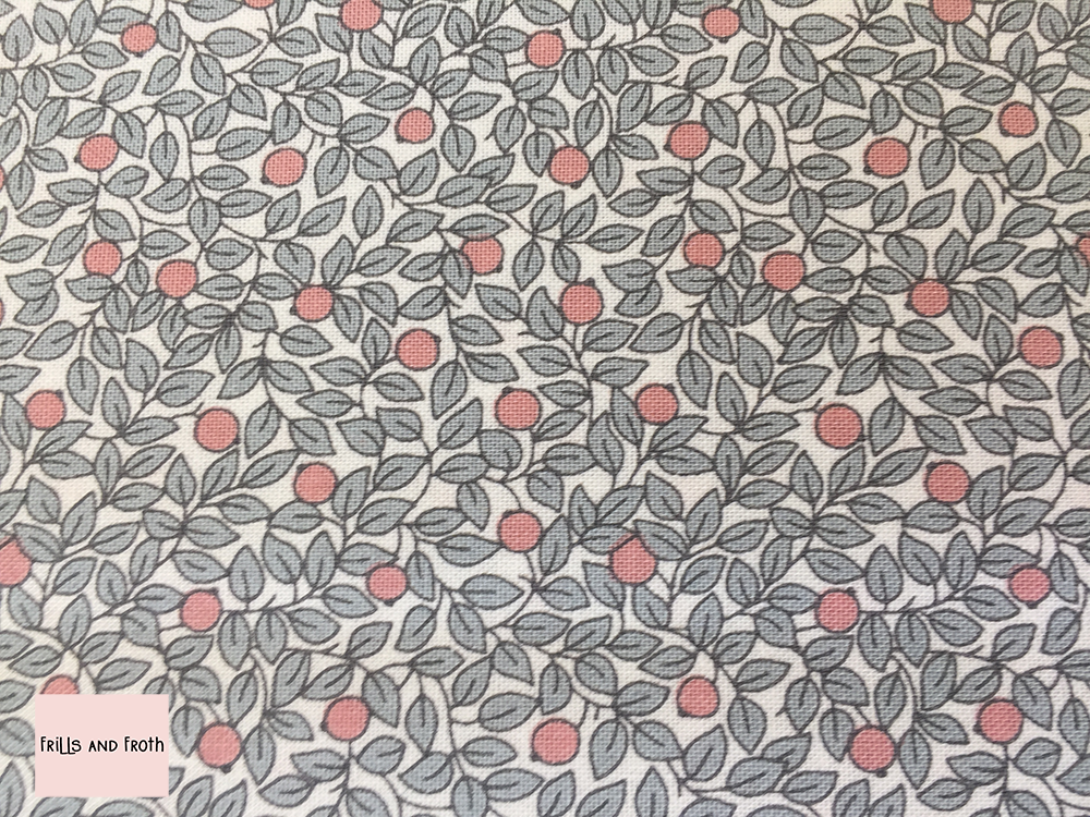 Liberty fabric 'Hidcote Berry' in pink and grey quilting fabric