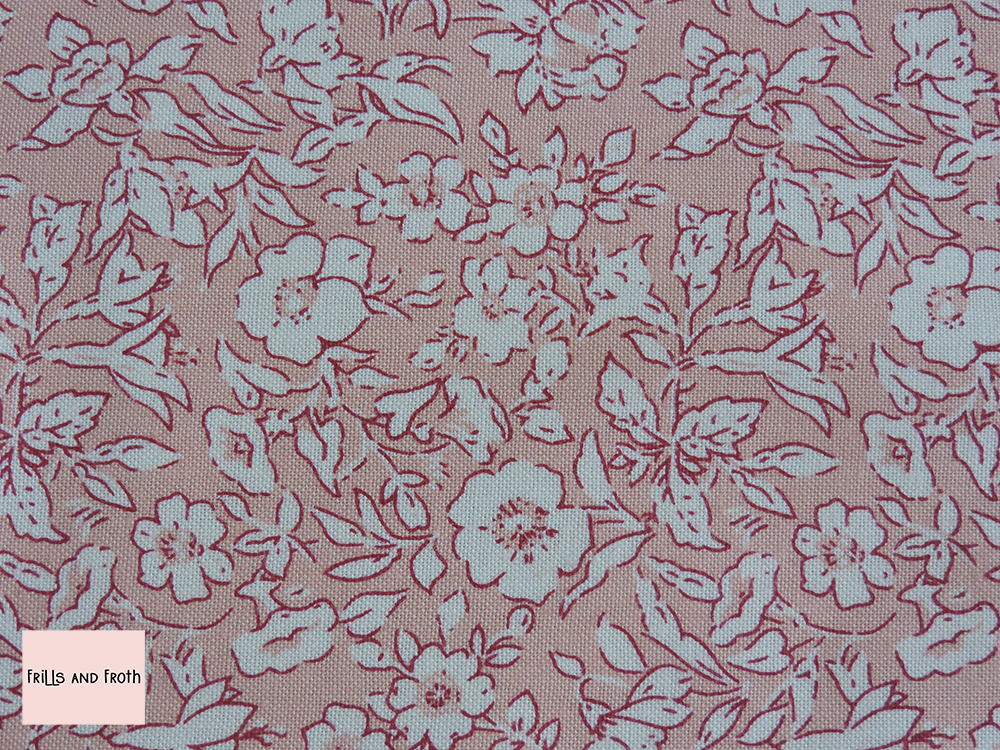 Liberty Fabric Morning dew pale pink quilting cotton