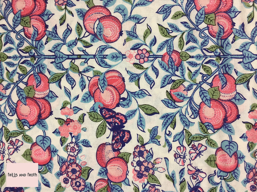 Liberty fabric 'Orchard' in pink quilting fabric