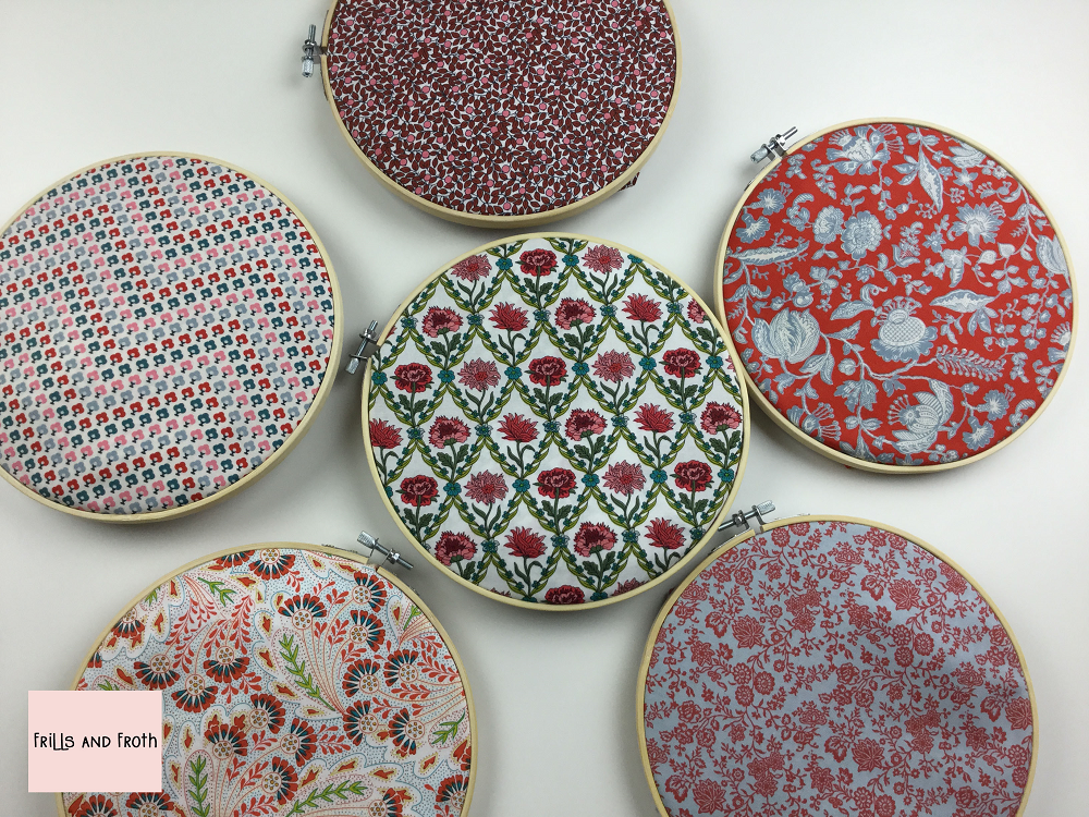 Liberty Fabric 'Summer House' Quilting Fabric Fat Quarter Bundle in Red