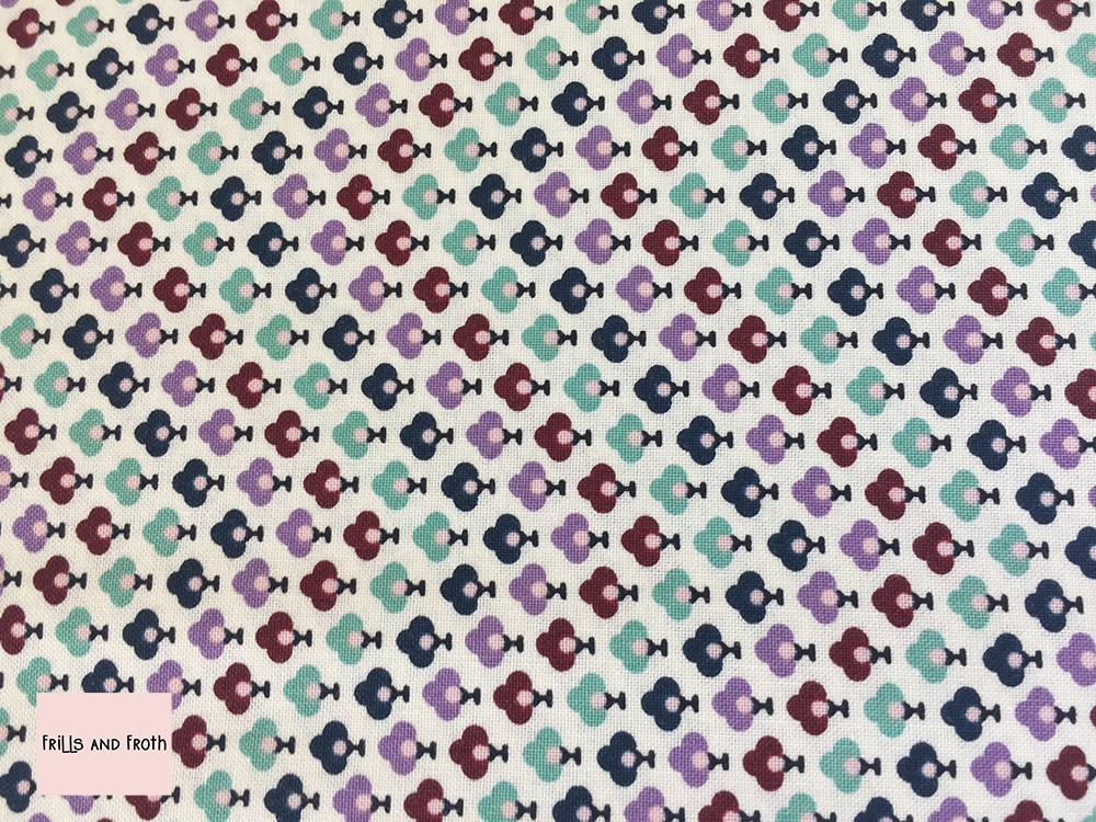 Liberty Fabric 'Topiary Chevron' in lavender quilting fabric