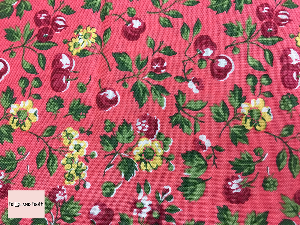 Liberty fabric 'Wild Cherry' in pink quilting fabric