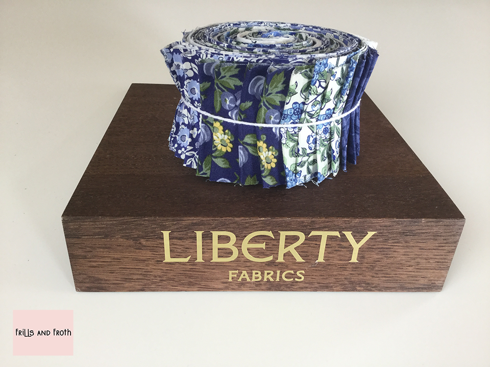 Liberty Fabric 'Orchard Garden' Quilting Strip Bundle in Blue