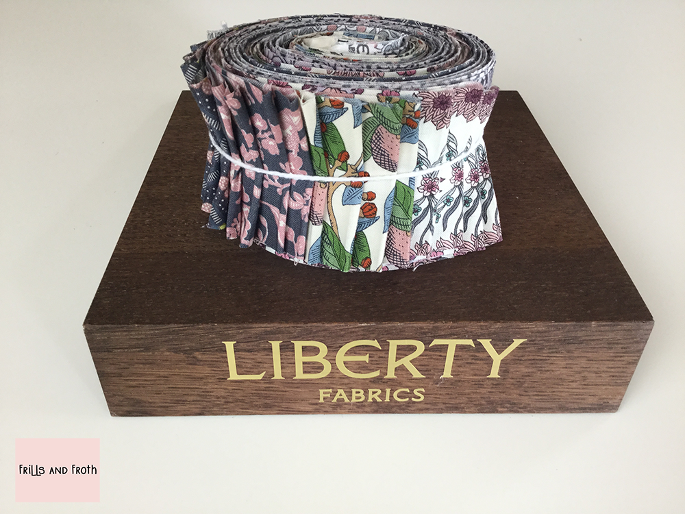 Liberty Fabric 'Summer House' Quilting Strip Bundle in Pink and Grey