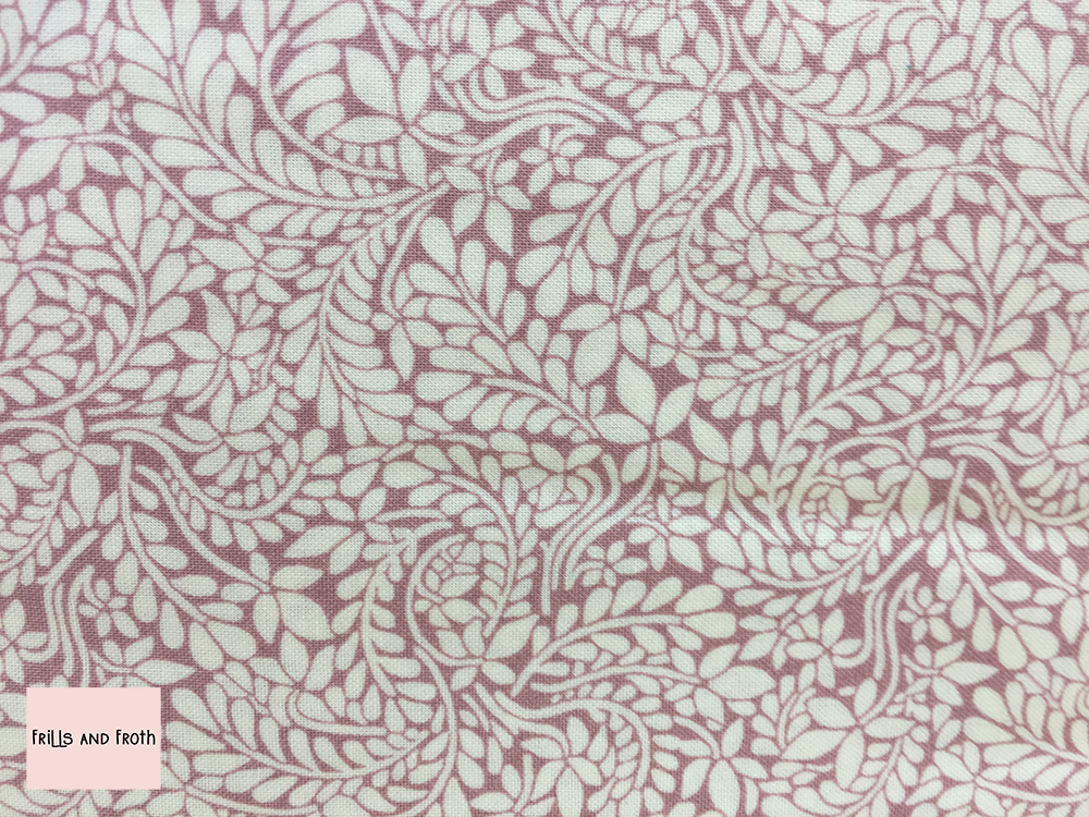 Liberty fabric 'Cambridge Fern' in rose quilting fabric