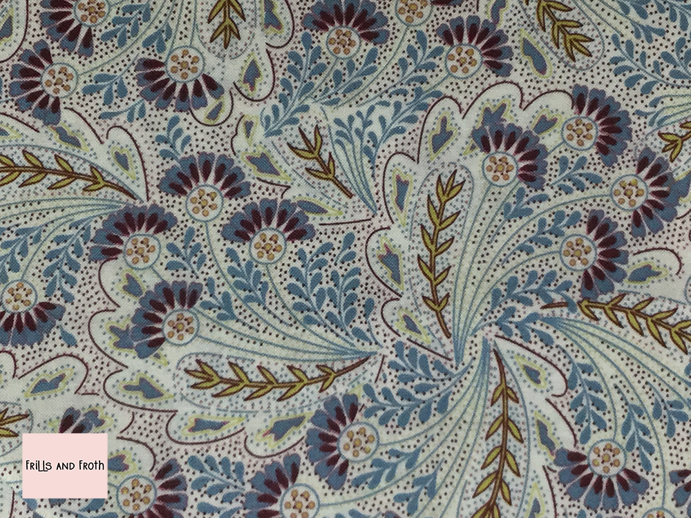 Liberty fabric 'Feather Dance' in lavender quilting fabric