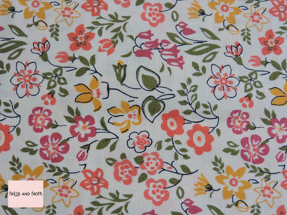 Liberty fabric Lawn games in orange quilting cotton