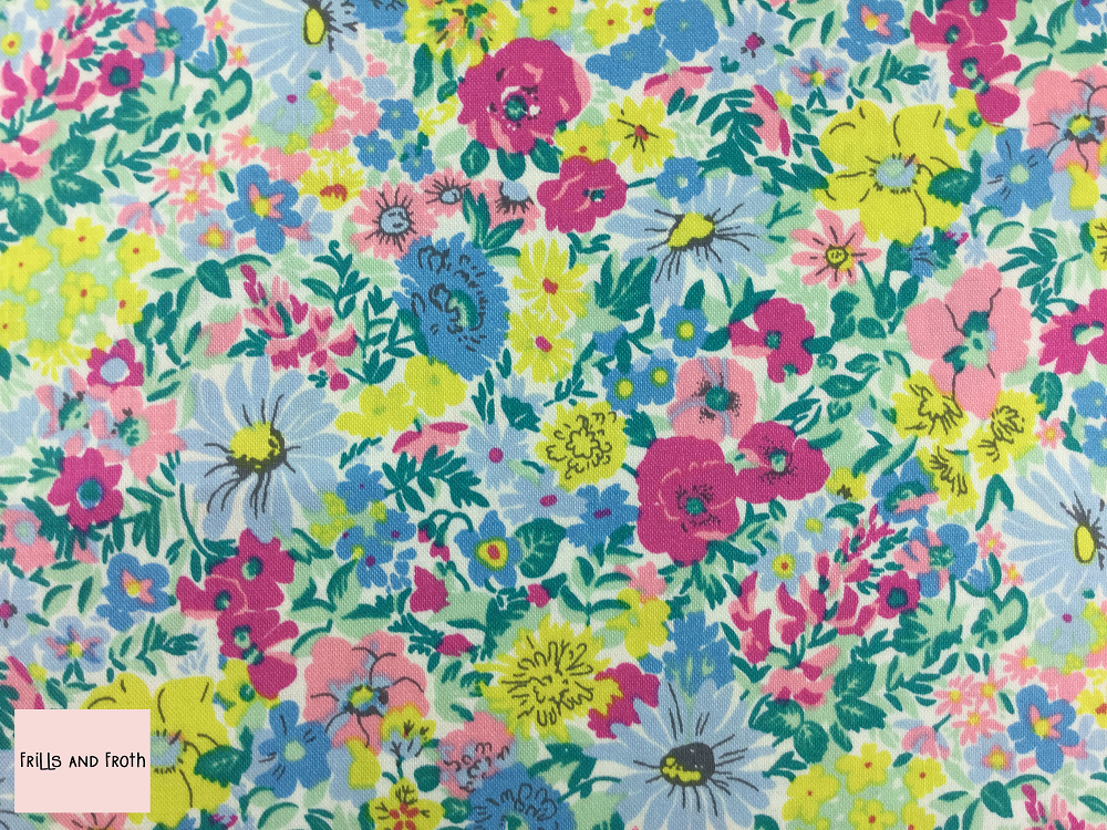 Liberty fabric 'Malvern Meadow' quilting fabric Liberty 'Malvern Meadow' fabric from the 'Flower Show Summer' collection features a multi-coloured floral design