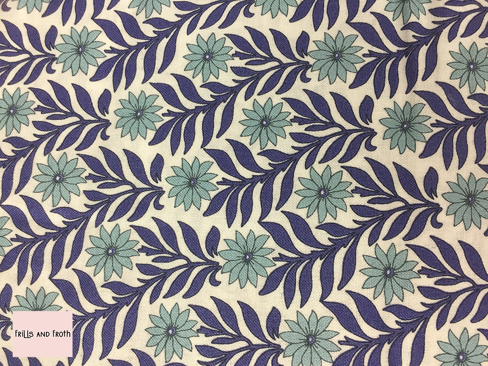 Liberty fabric 'Sweet Marigold' in blue quilting fabric