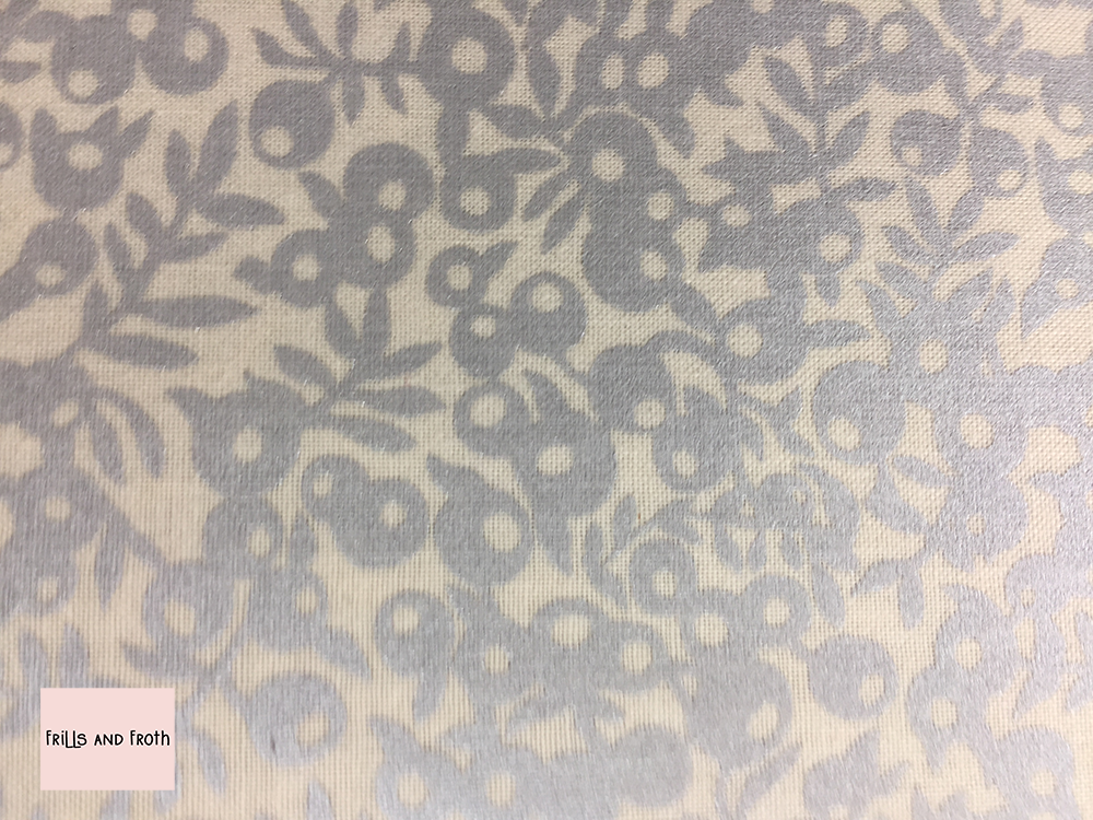 Liberty fabric 'Wiltshire Shade' silver and white quilting fabric
