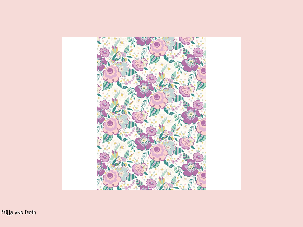 Liberty fabric 'Lindy Pop' quilting fabric Liberty 'Lindy Pop' fabric from the 'Deco Dance' collection features a pink floral design.