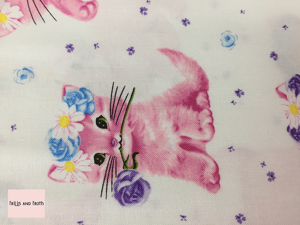 Michael Miller 'Furry Princess' in cottonball quilting fabric