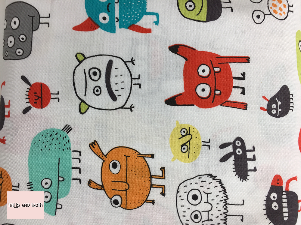 Michael Miller 'I want a Monster' quilting Fabric