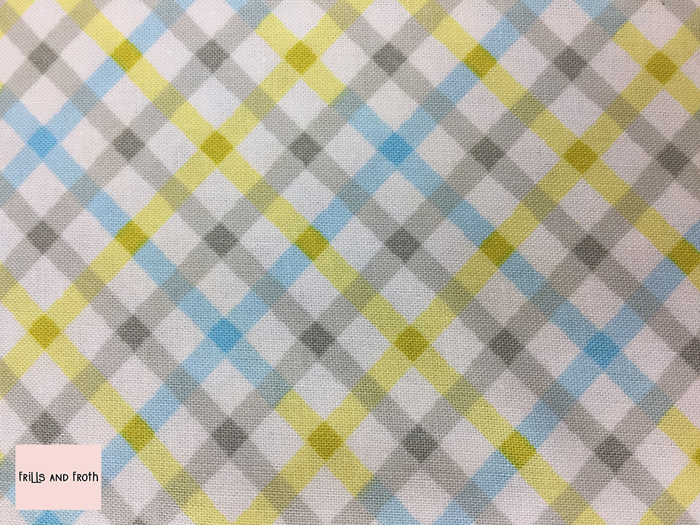 Michael Miller 'Baby Plaid' in blue quilting fabric